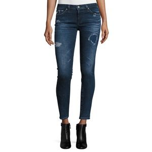 AG The Legging Ankle Skinny Distressed Jeans